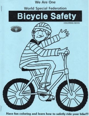 Each Student Receives A Bicycle Safety Coloring Book That Is Full Of Advice On How To Safely Ride